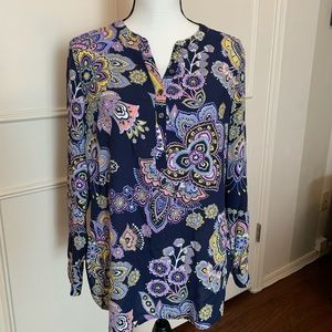 Like New Floral tunic top by Talbots -MP